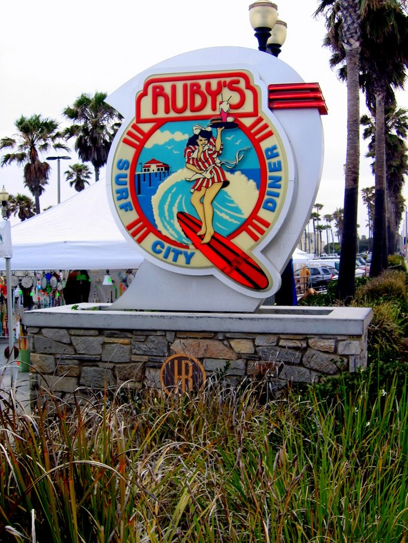 Ruby's Diner in Huntington Beach, California