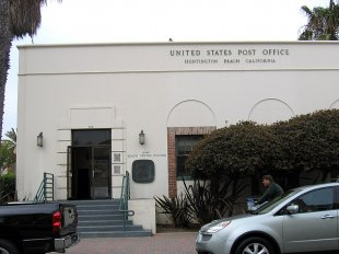 Post Office at 316 Olive Ave-Post Office at 316 Olive Ave, 2 blocks from PCH (medium sized photo)